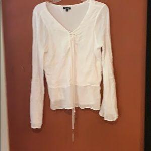 XOXO flows white long sleeve top size XL
